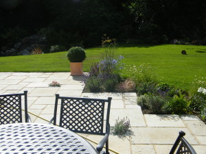 Country Garden with Natural Water Course - surrey-patio