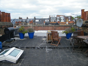 Up on the Roof - table-and-bbq-space