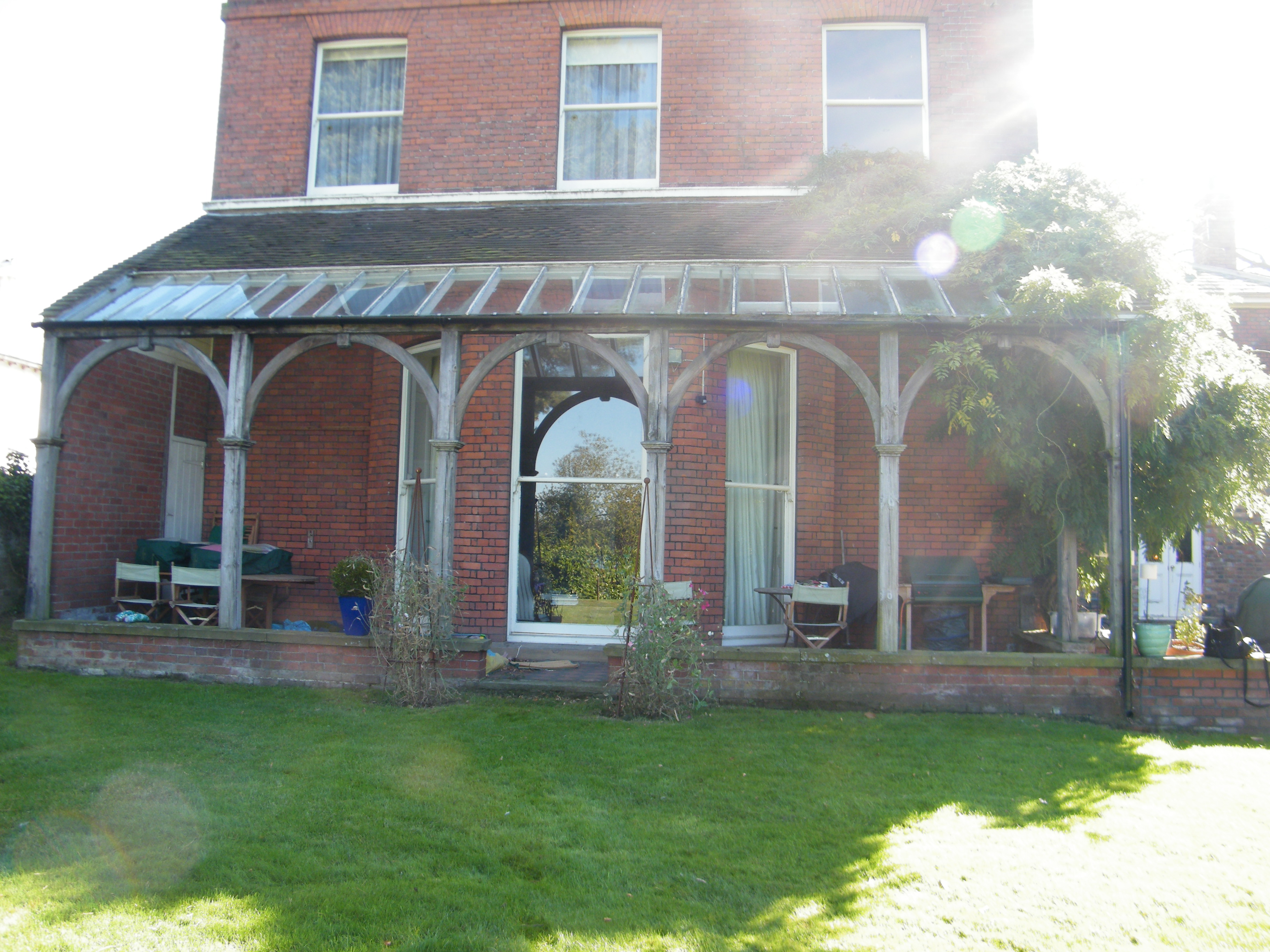 This The Large Back Garden To A Substantial And Attractive Red Brick Grade II Listed Property In Pembury Picturesquely Situated Overlooking Village