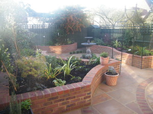 Small Courtyard for Lady of Leisure - the-finished-bromley-garden