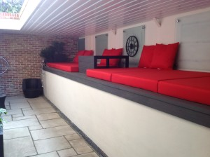 Upstairs, Downstairs - the-new-red-seating