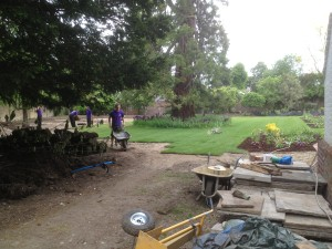 Croquet Anyone? - the-team-working-away
