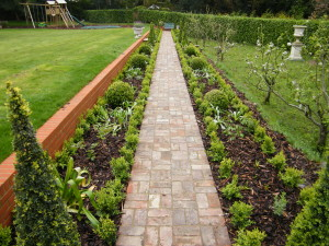 To the Manor Born - traditional-flower-beds