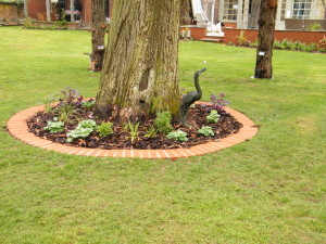 To the Manor Born - tree-flower-bed