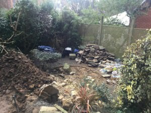 Hampstead Garden Design - clearing-time
