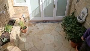Rear garden in Richmond - aerial-shot-of-the-patio