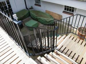 Subterranean London Garden - looking-down-the-stairs