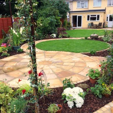 elated in elm park - Garden Design Long Narrow Plot